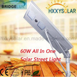 60W 새로운 디자인 옥외 통합 빛 LED 태양 가로등