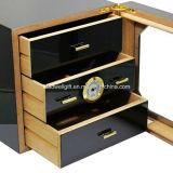 100-150 cuenta cigarros humidor de cedro forrado Embalaje