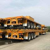 40FT 60tons를 위한 평상형 트레일러 선택적인 콘테이너 트레일러
