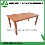 軽いカシの終わり(W-T-850)の木製の長方形のダイニングテーブル