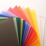A parte superior PMMA coloriu folhas acrílicas do molde para a venda