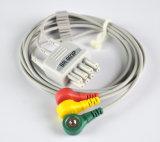 De Kabel ECG 3 van Kohden bsm-5105k van Nihon de Draden van het Lood