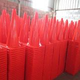 Fluorescente Orange Flexible Road Safety PVC Cone de trânsito
