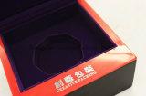 Matt-Ende-Schwarz-einzelner hölzerner Uhr-Kasten mit roter Acryldekoration