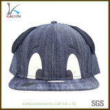耳を搭載する動物パターンCasquetteの子供の帽子のデニムの急な回復の帽子