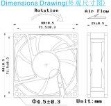 DC 8025 무브러시 팬 80X80X25mm 축류 팬