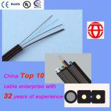 FTTH cable de fibra óptica con alambre de acero Messenger