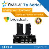 4/8/16/24/32 FXS puertos analógicos de puerta de enlace SIP admitido la entrada de VoIP