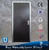 Porte résidentielle en acier galvanisée en métal de garantie extérieure plate de bâti en acier