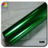 Vinilo de la película del cromo del espejo de Strechable de la venta caliente verde de Tsautop alto
