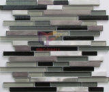 Mosaico clássico de Grey e de Black Glass Mixed Aluminium (CFA69)