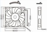 음향 기재를 위한 저잡음 12V DC 팬 8015 80mm 80X80X15mm 냉각팬