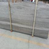 フロアーリングおよび壁のクラッディングのための中国の灰色の木製の大理石の磨かれたタイル