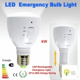 el usar de interior del bulbo E27 de 4W 6hours LED y al aire libre bajo Emergency cargable