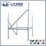 Sistema Ringlock Galvanzied aço andaimes Ledger