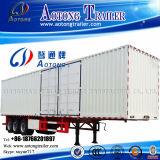 3 tipo reboque resistente do eixo 45t Van do transporte da caixa Semi (LAT9404XXY)