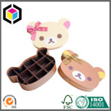 Heißer Verkaufs-steifer Pappgeschenk-Papier-Schokoladen-Kasten mit Bowknot