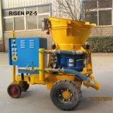 上がったPZ-5はGunite機械を乾燥混合する