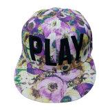 Изготовленный на заказ флористическая бейсбольная кепка Snapback с поднятым логосом Gjfp17175