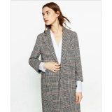 no casaco de pele do colar do terno longo para a roupa da mulher