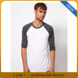 Custom Men's 100% coton 3/4 Sleeve Sports T-shirts