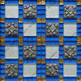 Mosaicos de vidro de cor azul, mistura de mosaico de resina Mosaico Mosaico Mosaico nobre para parede