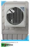 Окно воды установлен вентилятор охладителя нагнетаемого воздуха