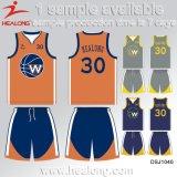 Nuevo engranaje de la ropa de deportes del diseño de Healong cuaesquiera jerseys del baloncesto de la sublimación del club de las personas del número