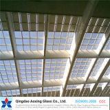 Natur-grüne/hellblaue Farbe/freies Toughed/Gleitbetriebs-reflektierendes Glas