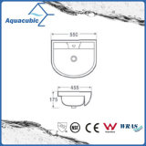 Halb-Vertiefte Badezimmer-keramische Schrank-Bassin-Handwaschende Wanne (ACB8545)