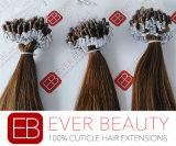 最上質のインドのPrebondedの人間の毛髪のマイクロリングの拡張
