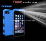 iPhone 5のiPhone 6 Luminous Phone Cover Caseのための中国Wholesale Luxury Cell Phone Case LED Selfie Light Phone Case