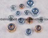DIN985 DIN 982 Tuercas / UNC / Unf anillo blanco / azul Anillo Class4 / Class6 / Class8 / Grade2 Nylon tuerca hexagonal (M3-M48)
