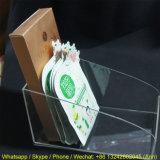 Estante de libro de acrílico claro para los departamentos/el soporte de visualización de acrílico