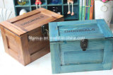 Acabamento elegante antigas caixas de Embalagens de madeira com cores Vintage