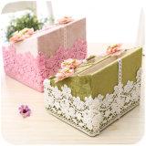 Caja de almacenamiento de sobremesa de estilo europeo, de 3 ranuras paño multifunción Caja de almacenamiento