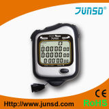 Cronômetro resistente da água da exposição da Três-Fileira (JS-5205)