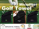 ゴルフギフトの顧客の刺繍の綿のベロアのゴルフタオル