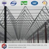 プレハブの鉄骨構造スペースフレームの屋根の倉庫
