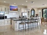 Gabinete de cozinha branco antigo novo Yb-1706014 da madeira 2017 contínua
