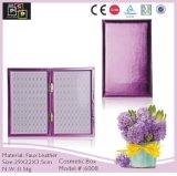 Mão luxuosa de couro do plutônio da cor cor-de-rosa - caixa feita do prego (6008)