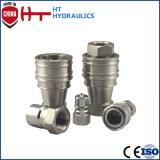 Couplage rapide hydraulique de durites d'acier inoxydable d'usine hydraulique pneumatique d'embout