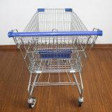 Carro de compra do metal do chapeamento do zinco da boa qualidade/trole para o supermercado