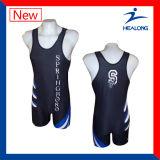 중국 제조자 스포츠 착용 주문 승화 Mens 레슬링 일중항