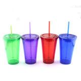 Buena calidad como forma de la bola de plástico libre de BPA Copa de paja