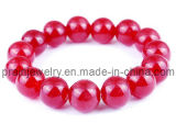 Jade rojo de la Moda de primavera de resina de vidrio acrílico Beads Pulsera de bisutería de primavera de 2013 Bisutería elementos (PB-030)