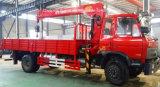 6 톤 트럭에 의하여 거치되는 기중기 7 톤 판매를 위한 트럭 8 톤 기중기