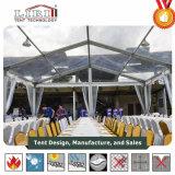 Tenda della festa nuziale di Transparnet con il tetto ed il muro laterale trasparenti