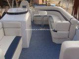 venta superior de los barcos de aluminio inflables el pontón de la alta calidad de los 20FT que rema