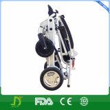 Sillón de ruedas plegable ultraligero y Lite invalidado de la nueva aleación del magnesio de la energía eléctrica de litio de la batería